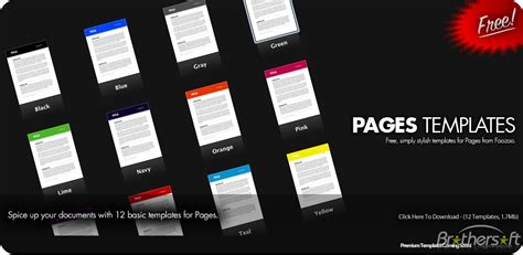 pages templates free simply stylish pages templates for mac free