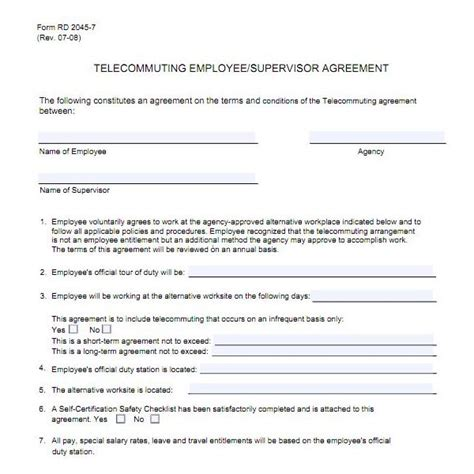 telework agreement template top ten legitimate telecommuting how where to find