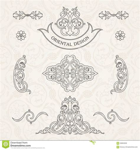 calligraphic vintage design elements vector set vector set classic calligraphic design stock vector