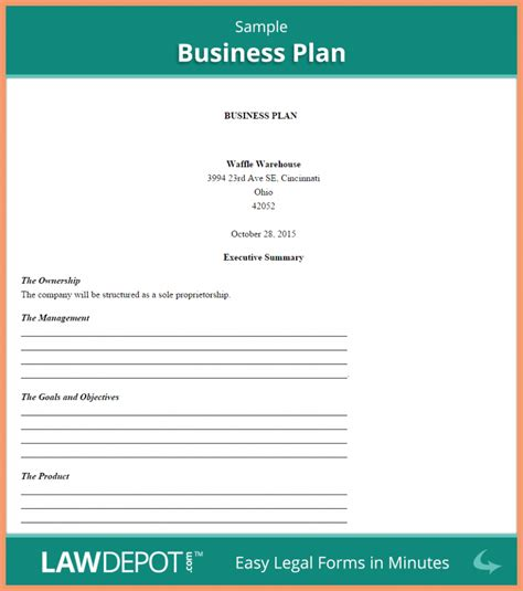 business plan sample business plan template pinterest simple