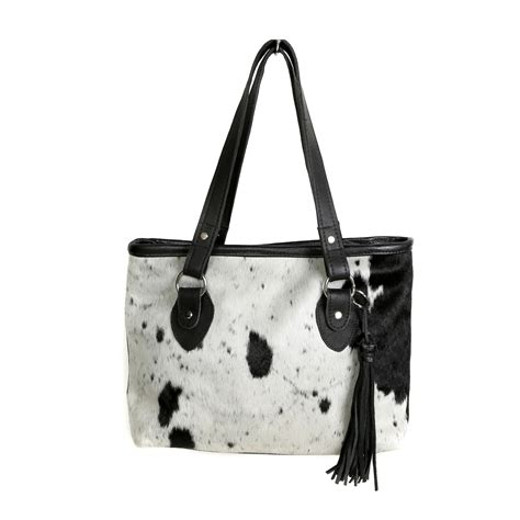 Black And White Cowhide Handbags - cowhide handbag nguni cowhide bag leather bag handmade