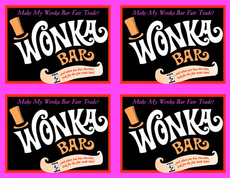 willy wonka bar wrapper template free willy wonka bar wrapper printables just b cause