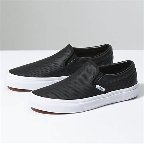 perf leather slip on shop shoes at vans