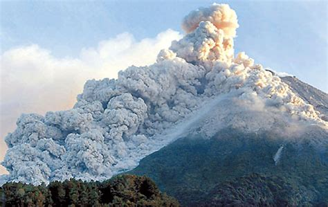 chemistry  close  real merapi volcano overview