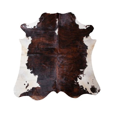 brown cowhide cowhide brown white esbeco touch of modern