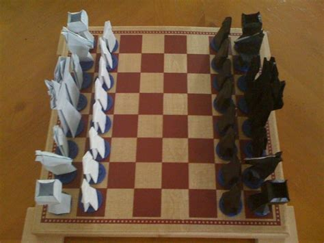 Papercraft Chess - chess set by zadimortis on deviantart