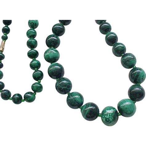 large bead necklace fantastic malachite bead necklace large from