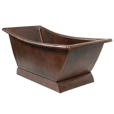 premier copper products 5 58 ft hammered copper canoa