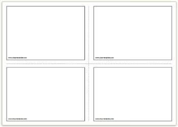free template flash cards 2x2 free printable flash cards template educational