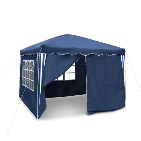 falt pavillon 3x3m wasserdicht falt pavillon zelt garten pavillion blau 3x3m