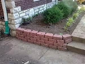 red brick retaining wall google search garden perfect