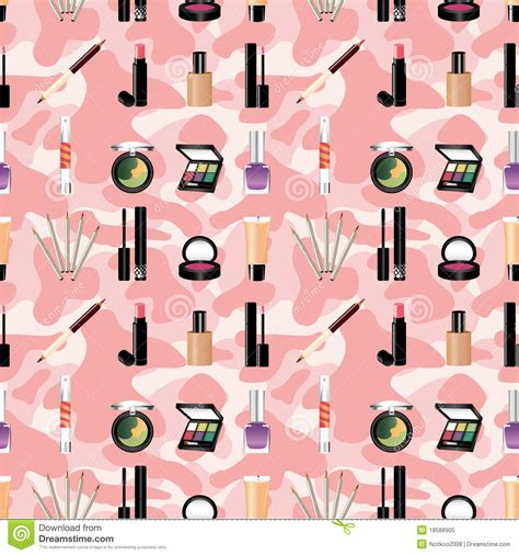 makeup pattern wallpaper seamless makeup pattern royalty free stock photo image