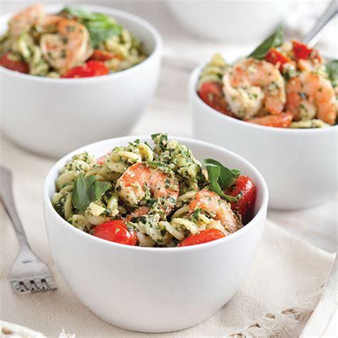 pesto pasta salad recipe shrimp and creamy pesto pasta salad recipe