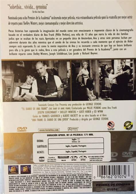dvd format mexico el diario de ana frank the diary of anne frank movie