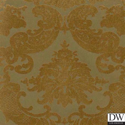 gold velvet wallpaper uk victorian flocked velvet wallpaper gold on aged gold