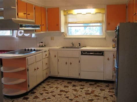 1960 s kitchen 1960s starburst white and orange laminate kitchen retro