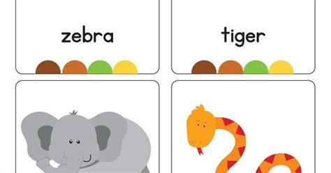 jungle animal flashcards printable our set of printable quot jungle animal flash cards quot are a