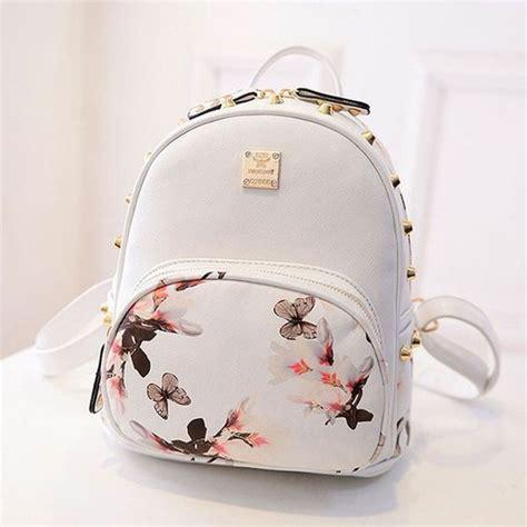 Mango Backpack Ransel mochila branca borboletas mochilas flower white flowers and style
