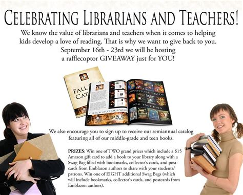 Giveaways For Teachers - giveaway for teachers librarians christina mercer