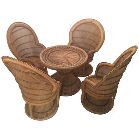 childrens wicker table and chairs rattan wicker children s dining table and chair set
