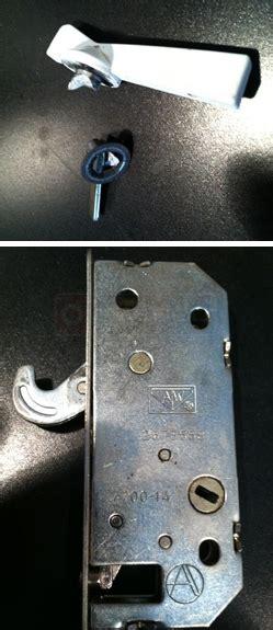 sliding door lock 2573558 lock handle the lock brand reads a w the latch