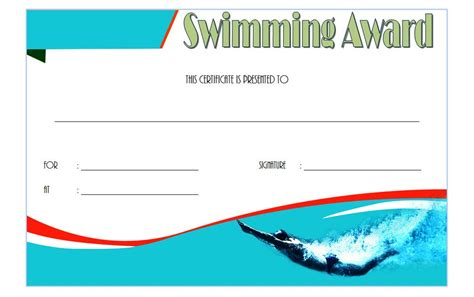swimming certificates templates swimming certificate templates the best template collection
