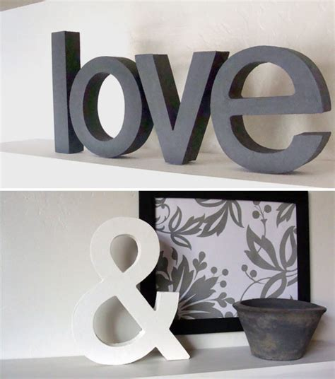 letters home decor love ampersand lushlee