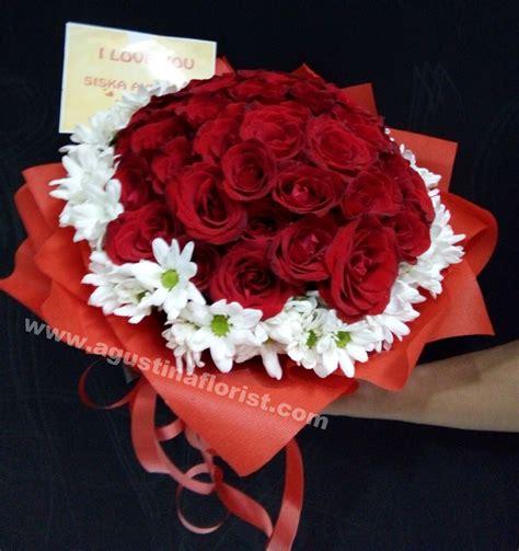buket mawar merah toko bunga surabaya