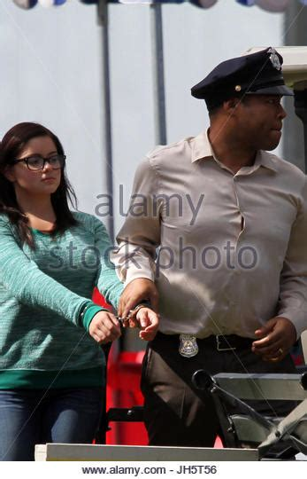 ariel winter ed o neill modern handcuffs stock photos modern handcuffs stock