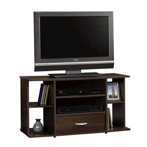 sauder beginnings cinnamon cherry panel tv stand at menards 174 - Menards Tv Stands