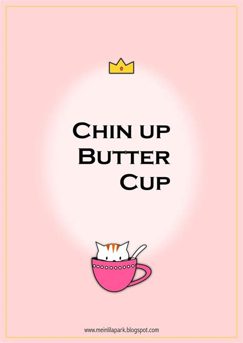 printable motivational quote chin  buttercup ausdruckbar freebie motivational
