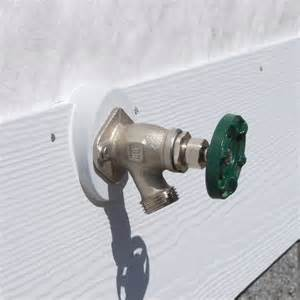 How To Install An Outside Water Faucet Macky S New House 183 Siding Amp Trim