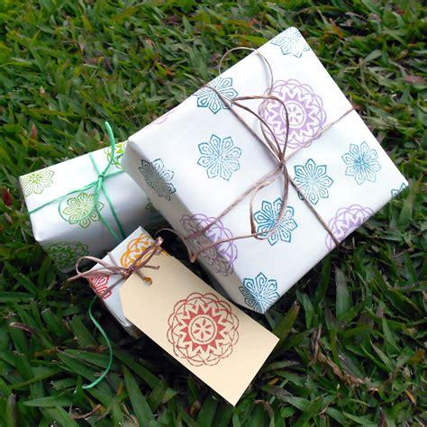 Handmade Gift Wrap - handmade gilberts tree