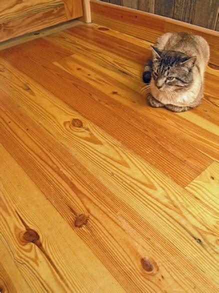 photo  southern yellow pine flooring  width  nail holes  character