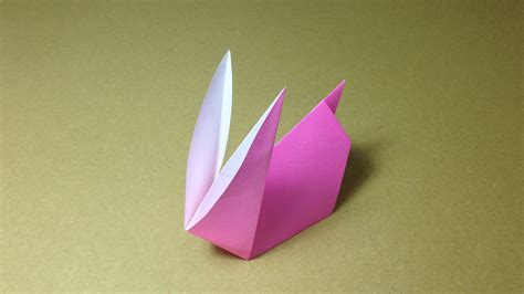 How To Make A Rabbit Out Of Paper - how to make a paper animals origami rabbit easy for
