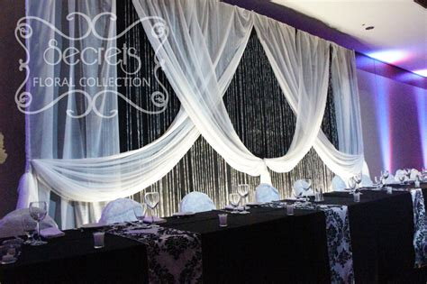 wedding backdrop with crystals panel backdrop highlighted with white