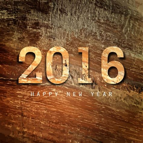 new year 2016 wood happy new year 2016 wood texture background vector free