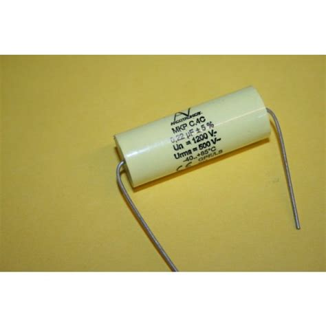 what is a mkp capacitor 0 22uf 1200v polypropylene mkp arcotronic capacitor bi polar fd2h22