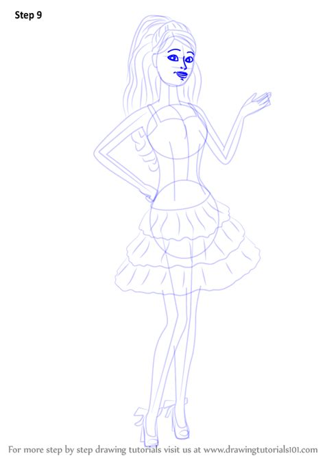 drawing from life the step by step how to draw barbie from barbie life in the dreamhouse drawingtutorials101 com