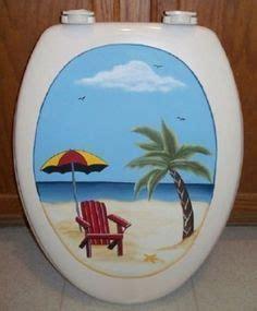 Toilet Seat Green Polka custom painted molded wood elongated toilet seat