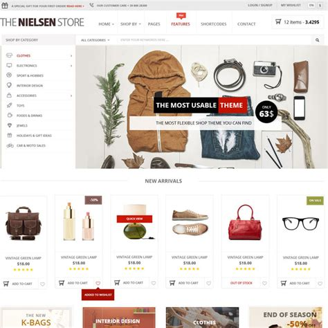 free wordpress ecommerce theme nielsen wordpress shop theme best wordpress themes 2017