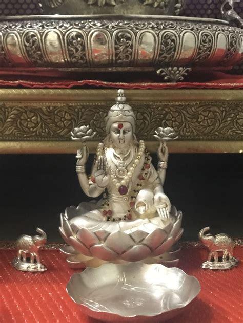 pin  shamala  design silver pooja items silver lamp