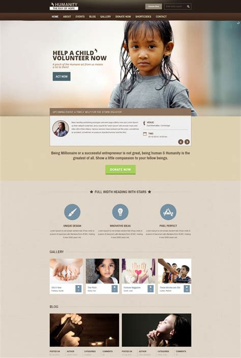best templates for ngo website 15 essential nonprofit html website templates