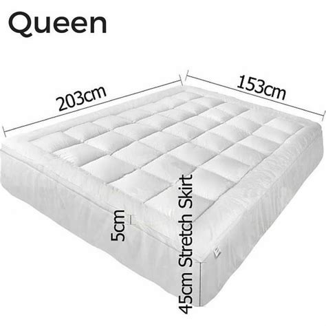 queen size pillow top bed queen size pillow top mattress topper protector buy