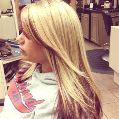 hairstyles with blonde on the bottom 17 best images about blonde hair on pinterest blonde