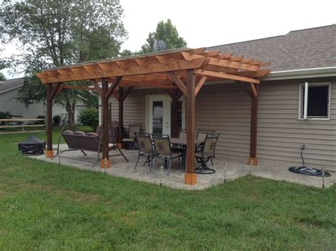 Patio And Pergola Plans Covered Pergola Plans 12x18 Outside Patio Wood Design