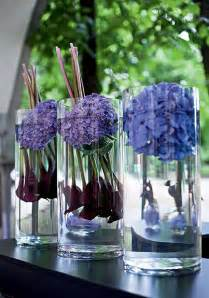 With hydrangea flower arrangements table decorations and centerpieces