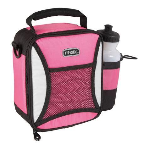 big pink insulated lunch bag amp bottle by thermos