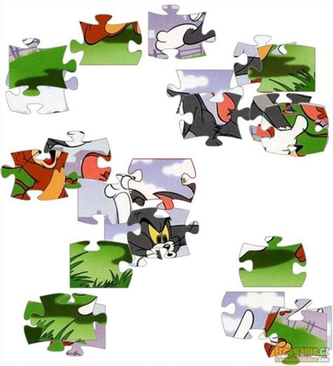 Puzzle Jigsaw Tom Jerry tom and jerry jigsaw puzzle freegamearchive