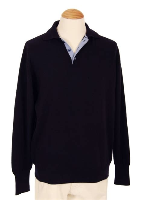 Cardigan Rajut Bayi Polos Navy 4 mens sweaters mens polo sweater 4 ply thick navy with bi color collar